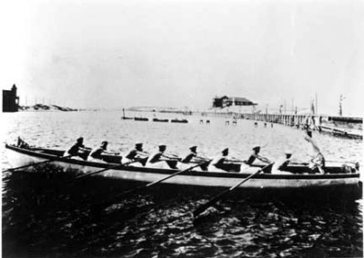 1900s Rowing Crew in PdR Lagoon
