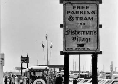 Tram to Fishermans Village 6-17-73 Dock 52 HMGW258BW edited