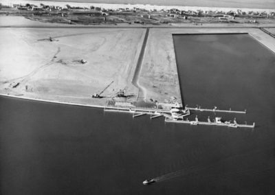 Aerial 1962: Fuel Dock, WS Marina Peninsular