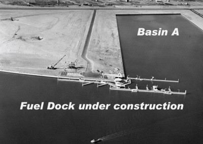 Fuel dock  is the first construction on Bora Bora Way.