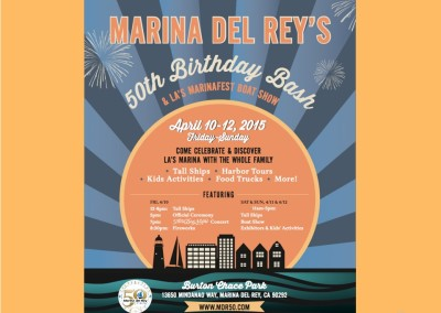 Marina del Rey celebrated 50 years in April 2015 with three days of events
