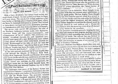 1977 Aug 5 Argonaut Tom Moran Port Ballona Article 1