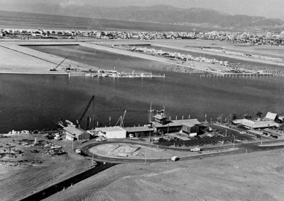 Admin Building and 1st Marinas, 1963